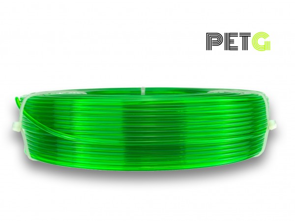 PETG Filament - 2,85 mm - Transparent Neongrün - Refill 800 g