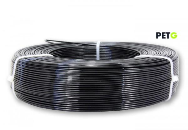 PETG Filament - 1,75 mm - Schwarz - Refill 850 g