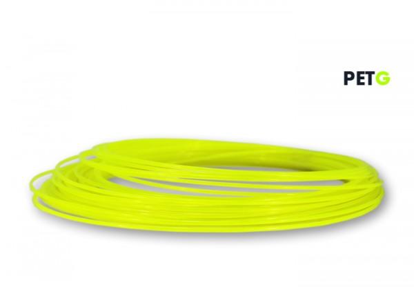 PETG Filament 50 g Sample - 2,85 mm - Transluzent Neongelb