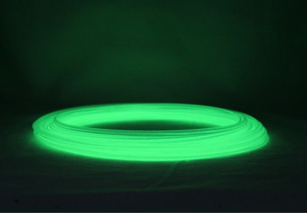 PLA Filament 50g Sample - 2,85mm - Glow-Grün
