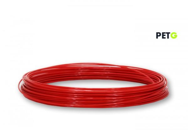 PETG Filament 50 g Sample - 2,85 mm - Feuerrot