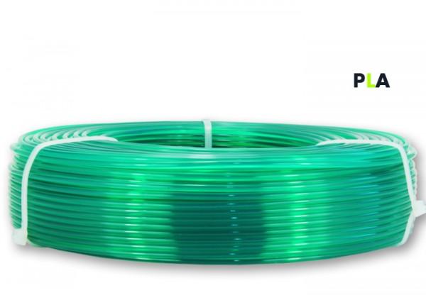 PLA Filament - 2,85 mm - Transluzent-Grün - Refill 800 g