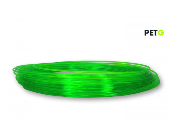 PETG Filament 50 g Sample - 1,75 mm - Transparent Neongrün