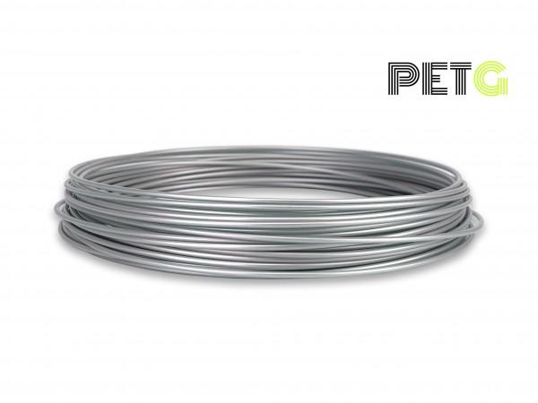 PETG Filament 50 g Sample - 1,75 mm - Alu-Silber