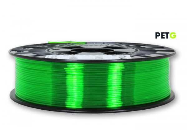 PETG Filament - 1,75 mm - Transparent Neongrün