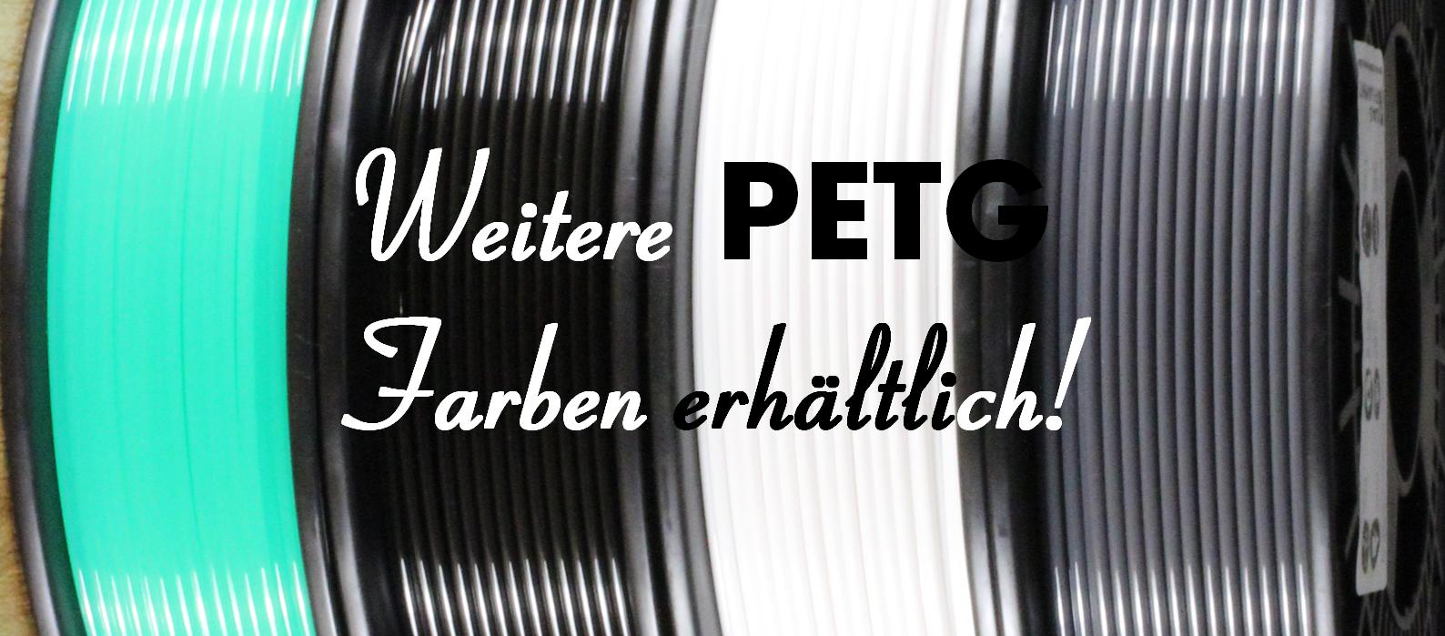 Erweiterung der PETG Farbpalette