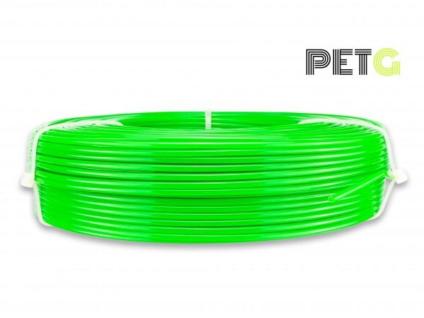 PETG Filament - 2,85 mm - Transluzent Neongrün - Refill 850 g