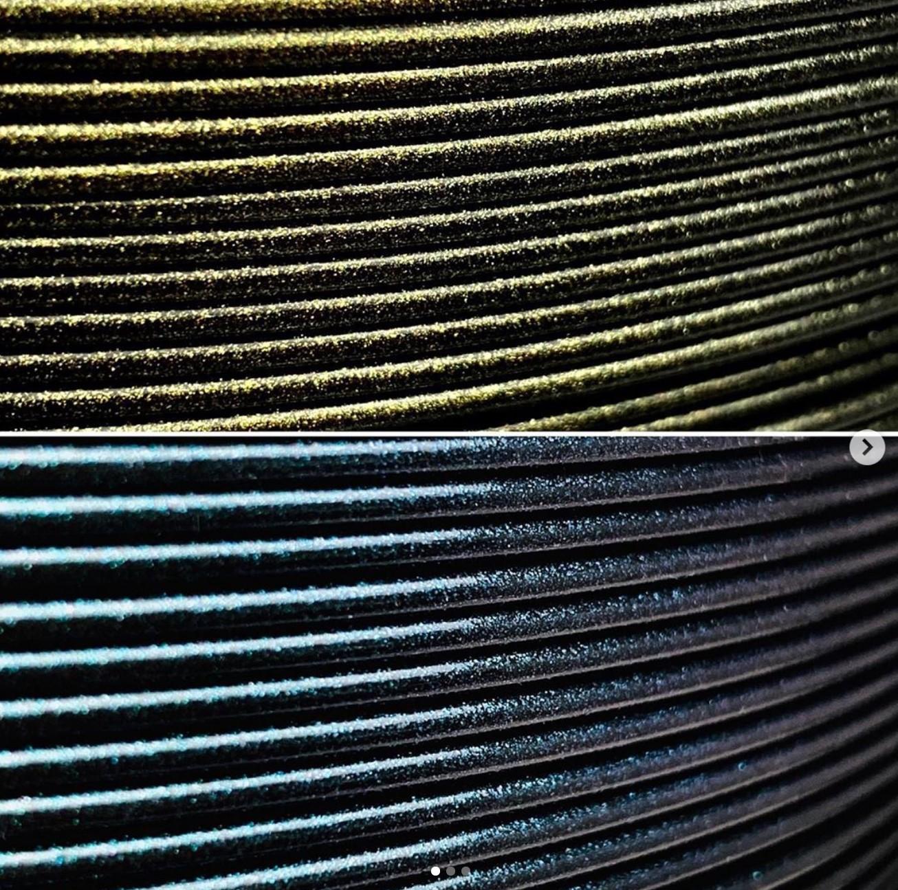 Glitter, Glitter, Glitter! Neue PLA Farben:Grüngold und Blue Pearl!