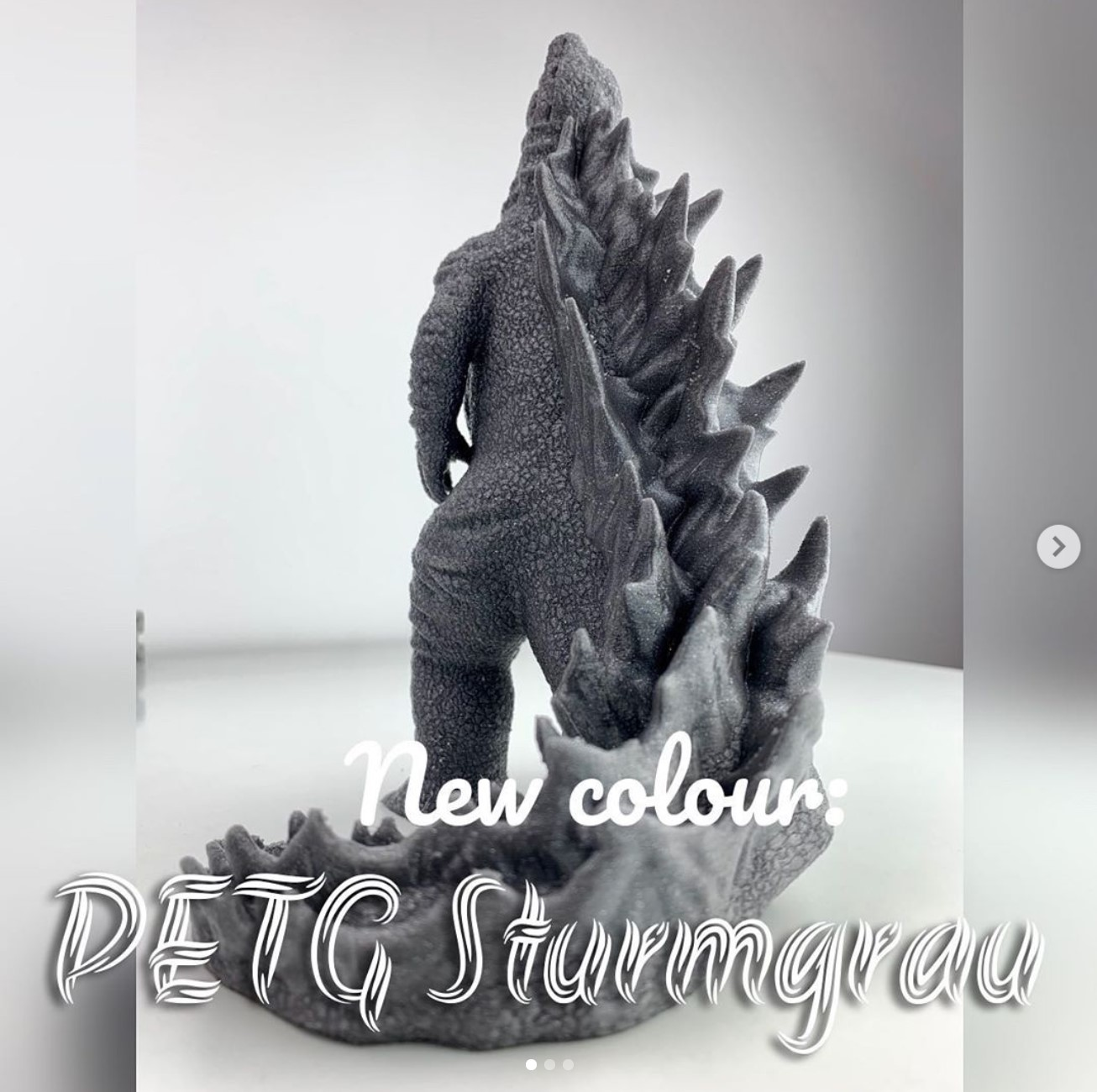 Neue PETG Farbe: Sturmgrau!