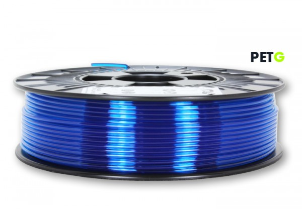 PETG Filament - 2,85 mm - Transparent Blau