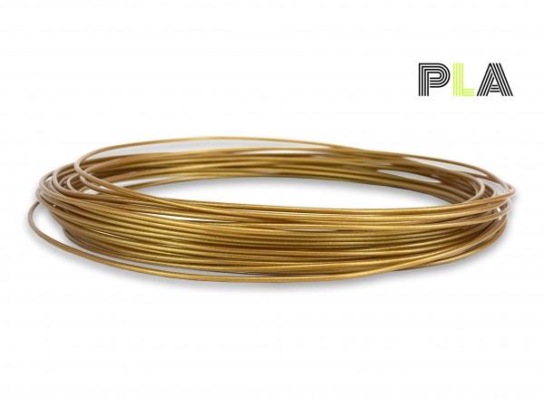 PLA Filament 50 g Sample - 1,75 mm - Gold V2