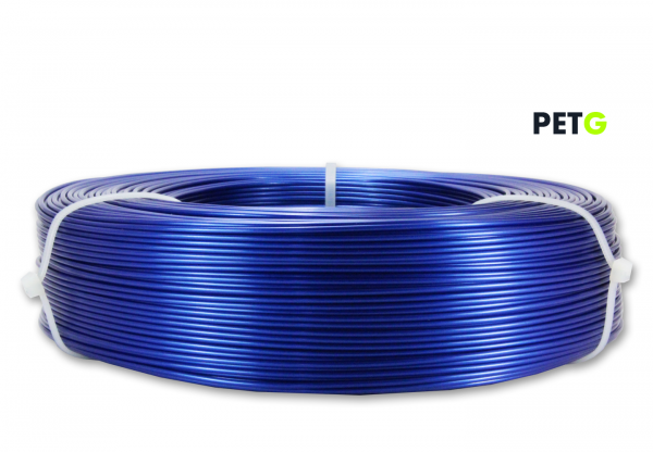 PETG Filament - 1,75 mm - Metallic Blau - Refill 850 g