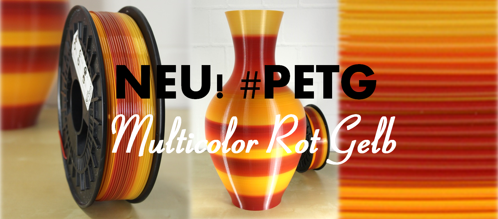Neu! PETG Multicolor Rot-Gelb
