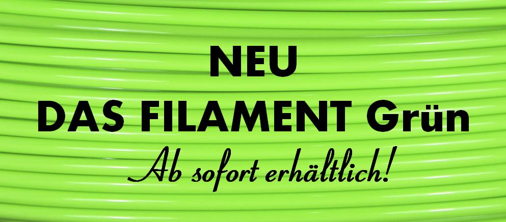 Neu - DAS FILAMENT Grün