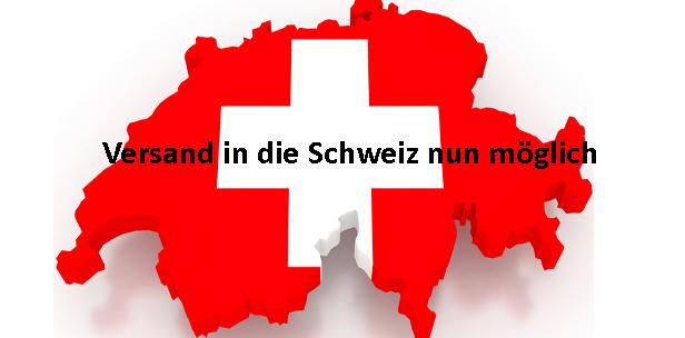 Versand in die Schweiz nun möglich