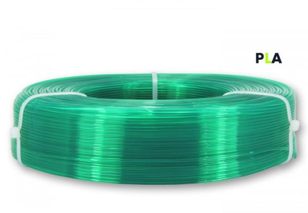 PLA Filament - 1,75 mm - Transluzent-Grün - Refill 850 g