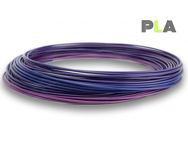 PLA Filament 50 g Sample - 2,85 mm - Multicolor Galaxy
