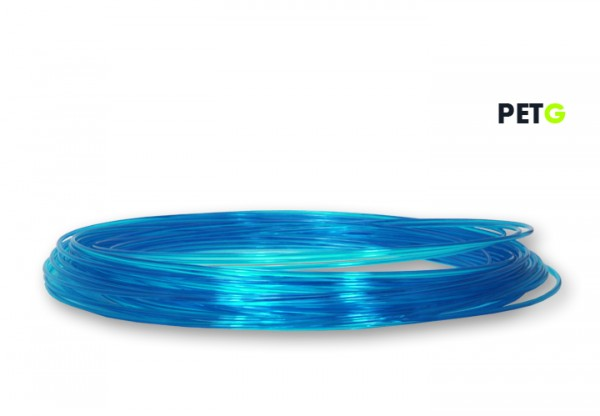 PETG Filament 50 g Sample - 1,75 mm - Transparent Blau