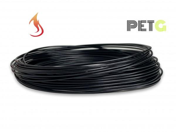 PETG Filament 50 g Sample - 1,75 mm - Flammschutz Schwarz