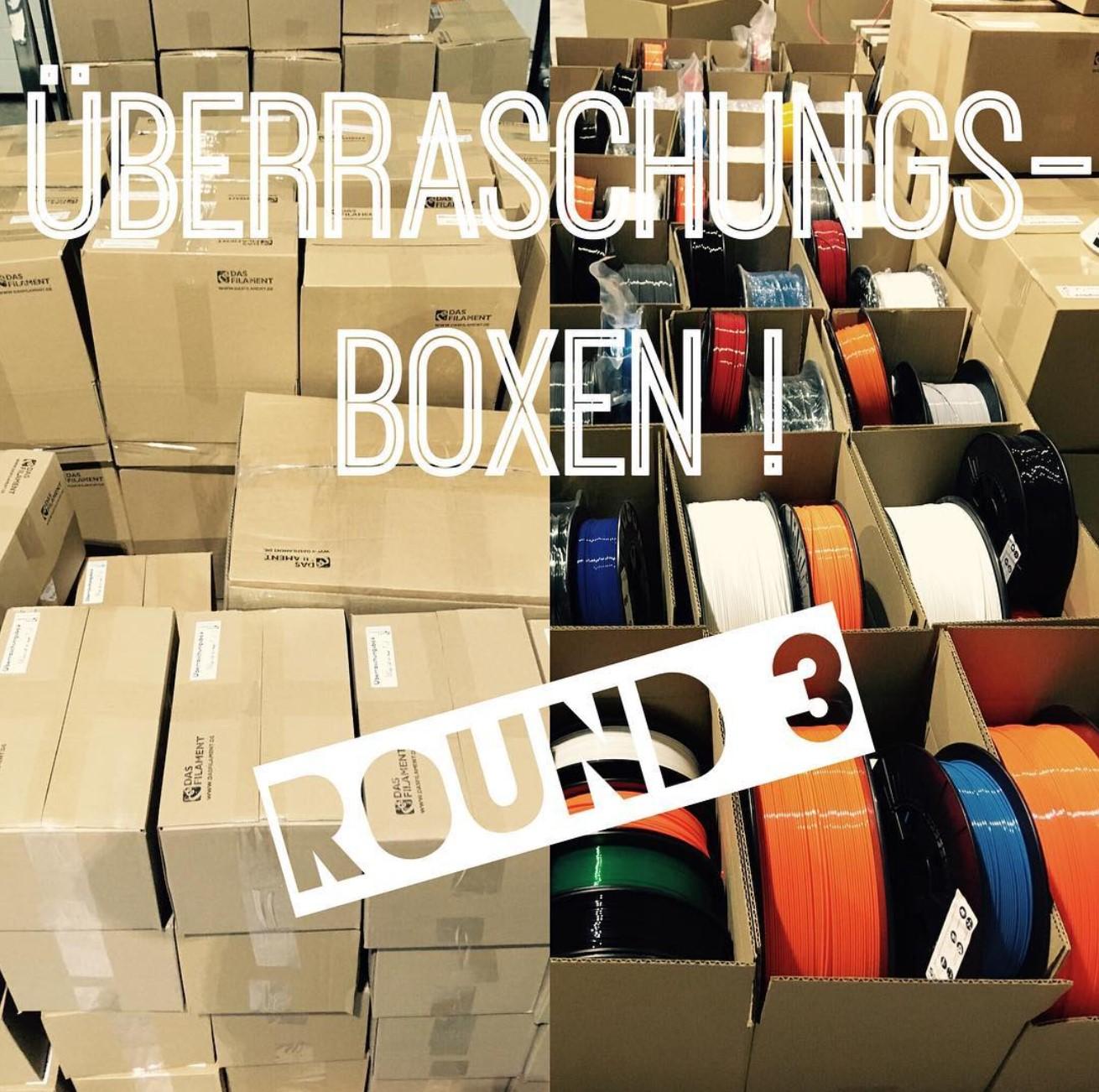 Es ist wieder so weit, es sind wieder Überraschungsboxen verfügbar. Nur so lange der Vorrat reicht ? #Überraschungsbox #dasfilament