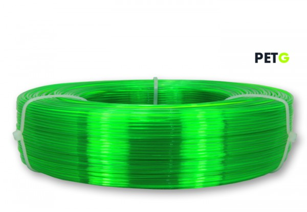 PETG Filament - 1,75 mm - Transparent Neongrün - Refill 850 g